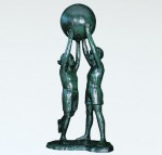 般若純一郎 大型ブロンズ 美術彫刻作品 シンボルモニュメント 高岡銅器 竹中銅器