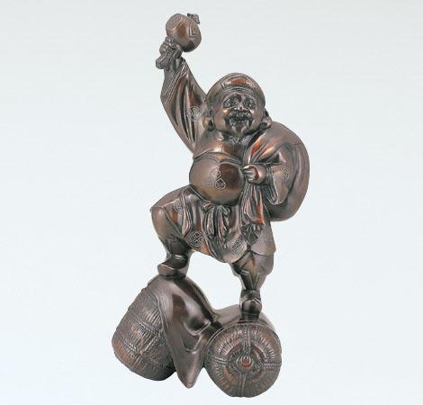 開運 縁起物 七福神 和風置物 インテリア ブロンズ置物 高岡銅器 竹中銅器