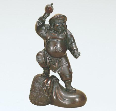 越井栄山 開運 縁起物 七福神 和風置物 ブロンズ置物 高岡銅器 竹中銅器