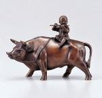 牛の置物 多産豊饒 ブロンズ置物 高岡銅器 竹中銅器