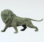 ライオン ブロンズ置物 高岡銅器 竹中銅器
