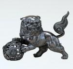 獅子 開運 縁起物 インテリア ブロンズ置物 高岡銅器 竹中銅器