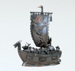 般若純一郎 宝船 ブロンズ置物 置物 結納品 開運 縁起物 インテリア 高岡銅器 竹中銅器