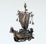 宝船 ブロンズ置物 置物 結納品 開運 縁起物 インテリア 高岡銅器 竹中銅器