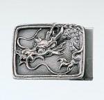 バックル ブロンズバッグル ベルト 蝋型鋳造製 名取川雅司 高岡銅器 竹中銅器