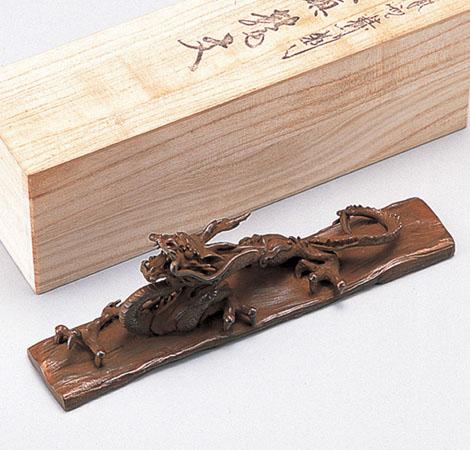 二上元威 文鎮 和風 インテリア小物 高岡銅器 竹中銅器