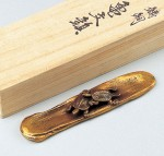 須賀月真 文鎮 和風 インテリア小物 高岡銅器 竹中銅器