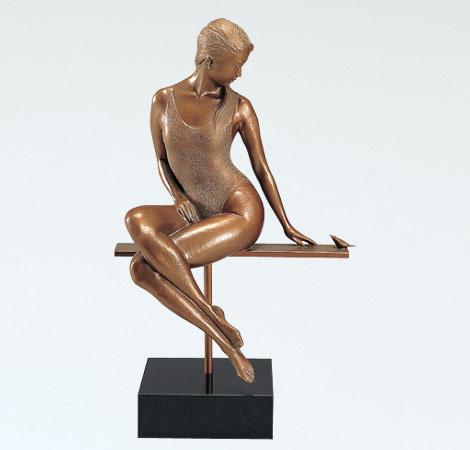 大道寺光弘 インテリア ブロンズ美術彫刻 高岡銅器 竹中銅器