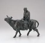 鋳金 ブロンズ置物 日本新工芸 津田永寿 高岡銅器 竹中銅器