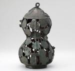 高岡銅器 吊灯篭 瓢箪型蓮灯籠