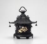 高岡銅器 吊灯篭 丸型竜灯籠