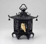 高岡銅器 吊灯篭 六角格子灯籠