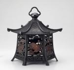 高岡銅器 吊灯篭 六角霊峰富士灯籠