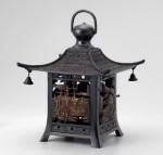 高岡銅器 吊灯篭 四角五十三次紋灯籠