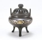 利久型香炉大彫金唐草 銅製香炉 高岡銅器 竹中銅器 日本製
