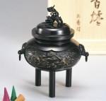 カン付雲鶴香炉 銅製香炉 高岡銅器 竹中銅器 日本製