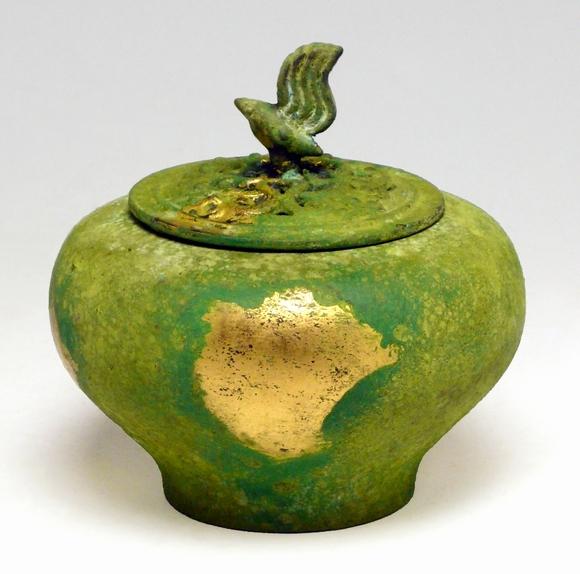 小鳥香炉 本金青銅色 高岡銅器日本製香炉