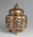 六陵瑞鳥紋香炉 高岡銅器日本製香炉