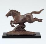 津田永寿 馬の置物 ブロンズ彫刻 ブロンズ置物 高岡銅器 竹中銅器