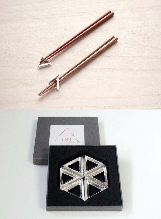 TRI 錫製箸置 錫製テーブルウェア