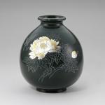 福寿形 牡丹 花瓶 花器 インテリア 高岡銅器 竹中銅器
