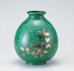 福寿形 花器 ブロンズ製花瓶 伝統工芸 高岡銅器 竹中銅器