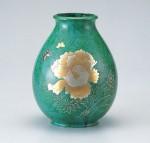 ダルマ形 花器 ブロンズ製花瓶 伝統工芸 高岡銅器 竹中銅器