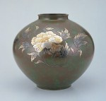 寿形 花器 ブロンズ製花瓶 伝統工芸 高岡銅器 竹中銅器