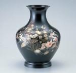 大寿形 花器 ブロンズ製花瓶 伝統工芸 高岡銅器 竹中銅器