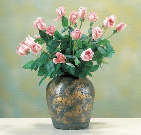 北村西望 花器 ブロンズ製花瓶 伝統工芸 高岡銅器 竹中銅器