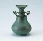 伝統工芸 大角勲 ブロンズ製花瓶 高岡銅器 竹中銅器