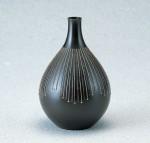 徳利型 伝統工芸 般若勘渓 ブロンズ製花瓶 高岡銅器 竹中銅器