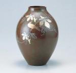 新坪形 花器 ブロンズ製花瓶 伝統工芸 高岡銅器 竹中銅器