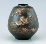 花器 ブロンズ製花瓶 伝統工芸 高岡銅器 竹中銅器