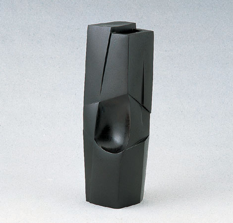 伝統工芸 可西泰三 ブロンズ製花瓶 高岡銅器 竹中銅器