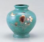 壷 花器 ブロンズ製花瓶 伝統工芸 高岡銅器 竹中銅器