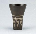 伝統工芸 金森映井智 ブロンズ製花瓶 高岡銅器 竹中銅器
