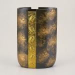 宝寿 茶 花瓶 花器 インテリア 高岡銅器 竹中銅器