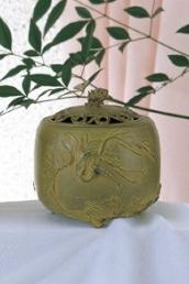 名取川雅司 香炉 インテリア 高岡銅器 竹中銅器