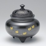 彫金香炉 インテリア 高岡銅器 竹中銅器
