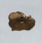 香立ぶどうに蛙 高岡銅器 竹中銅器
