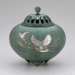 彫金香炉 和 置物 インテリア 高岡銅器 竹中銅器