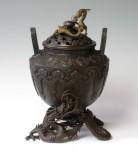 龍足雲龍蓋香炉 銅製香炉 高岡銅器 竹中銅器 日本製