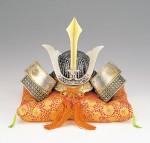 メッキ 兜 端午の節句 誕生祝い 新築祝 出世兜 記念品 高岡銅器 竹中銅器