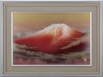 黎明赤富士 赤富士額 新築御祝